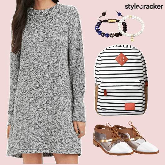 Sweater Dress Backpack Beaded Bracelets  - StyleCracker