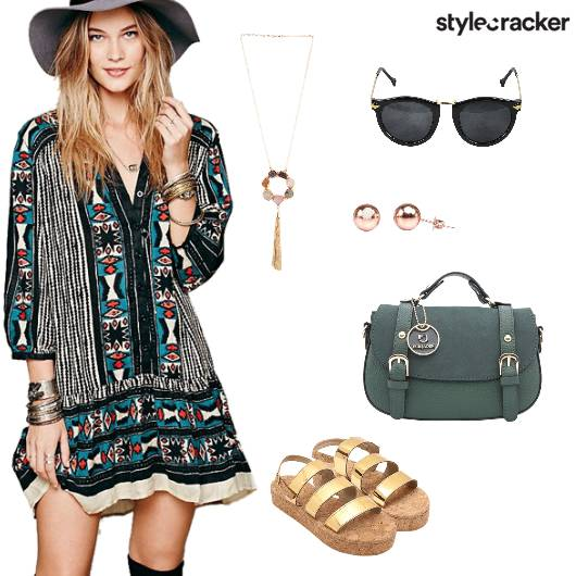 Print Dress Summer Outdoor - StyleCracker