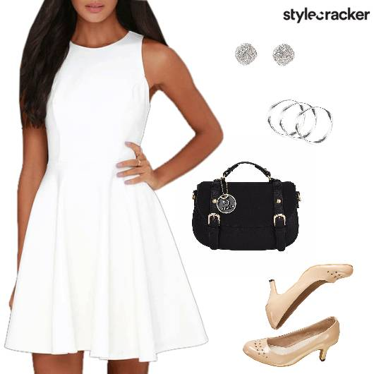 FitAndFlare Dress Pumps Satchel Brunch - StyleCracker