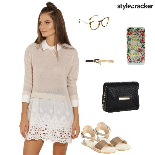 Dress Flats Slingbag Backtoschool Casual - StyleCracker