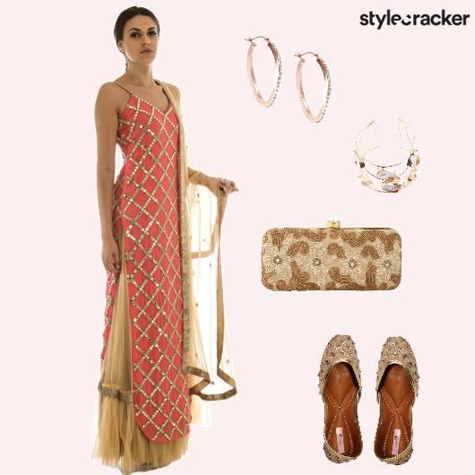 Suit Ethnic Clutch Jutti - StyleCracker