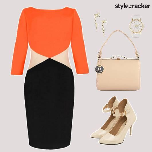 Dress ColorBlock Bag Shoes Watch Accessories - StyleCracker