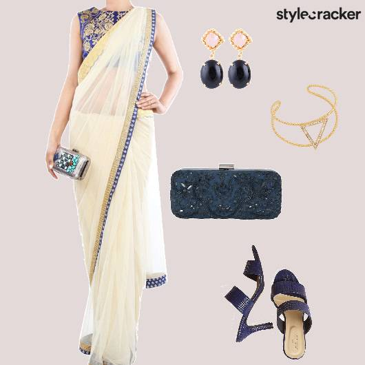 Saree Heels Clutch cuff Ethnic - StyleCracker