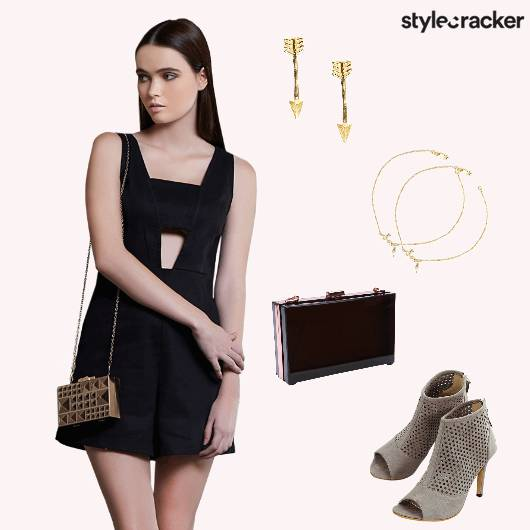 Playsuit Heels BoxClutch Party - StyleCracker
