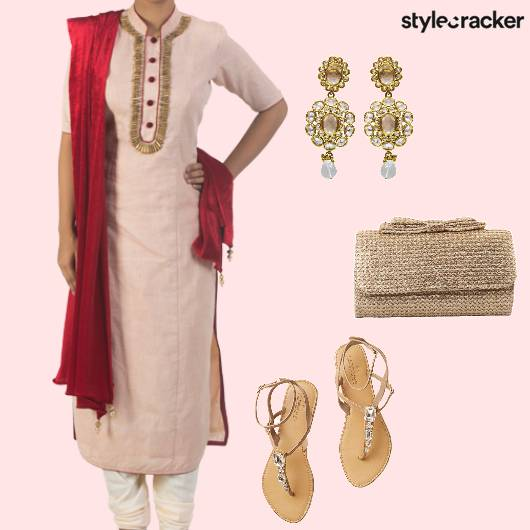 Kurta Churidar Flats Clutch  - StyleCracker