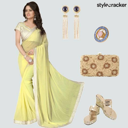 Saree Heels Clutch Ethnic - StyleCracker