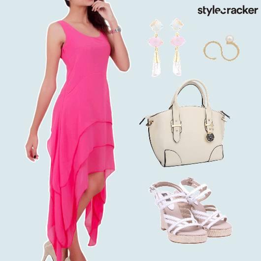 Asymmetrical Dress Lunch Date  - StyleCracker