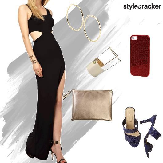 Maxidress Clutch Heels Party - StyleCracker