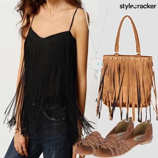 Fringetop Casual Tan Summer - StyleCracker