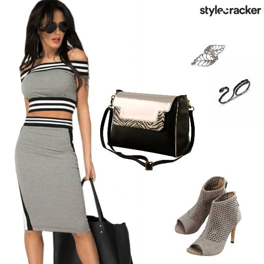 Twinset CropTop Bodycon Party - StyleCracker