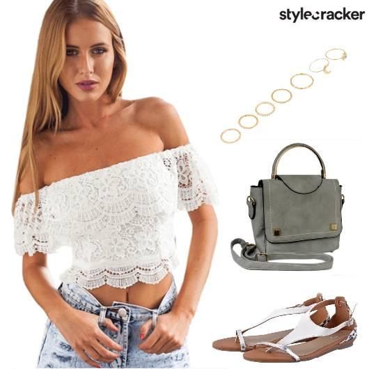 Casual OffShoulder CropTop - StyleCracker
