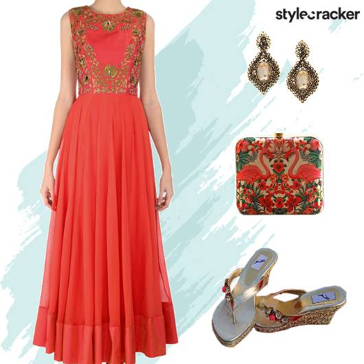 FestiveIndian Embroidered Anarkali - StyleCracker
