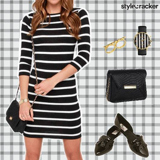 BlackAndWhite Stripes Dress Watch - StyleCracker