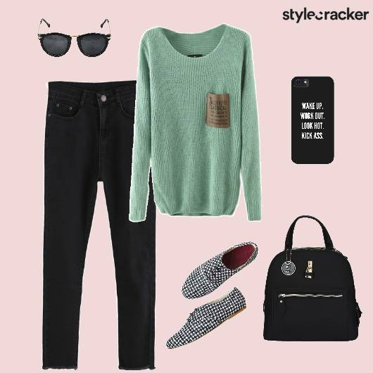 Sweater Jeans Backpack Oxfords Casual - StyleCracker