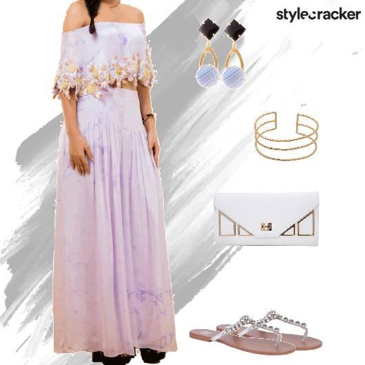 Suit Flats Clutch Ethnic - StyleCracker