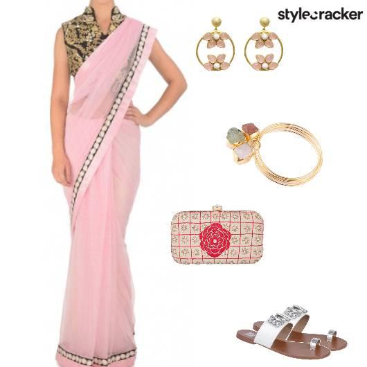 Saree Flats Clutch Ethnic  - StyleCracker