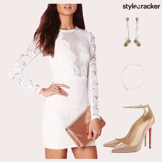 Dress Lace Accessories Footwear Brunch - StyleCracker
