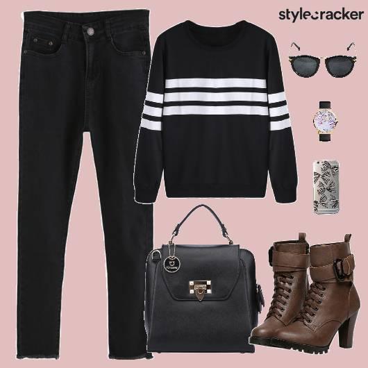Sweatshirt Denims Bag Shoes Sunglasses - StyleCracker