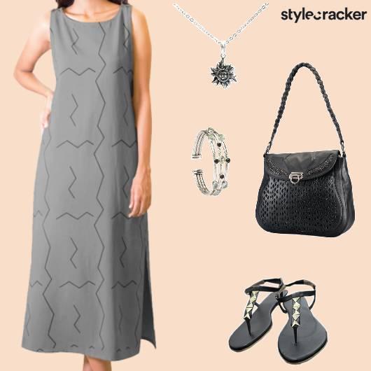 Casual DayWear MaxiDress Handbag - StyleCracker