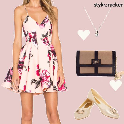 Brunch FloralDress EmbellishedShoes  - StyleCracker