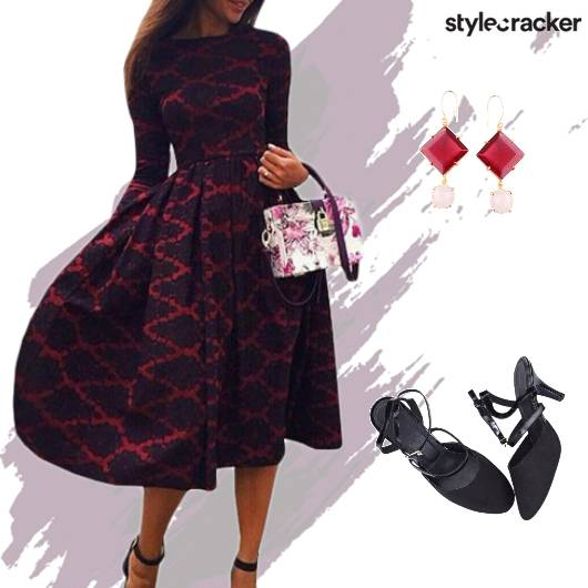 Formal Party Dress PrintedBag - StyleCracker