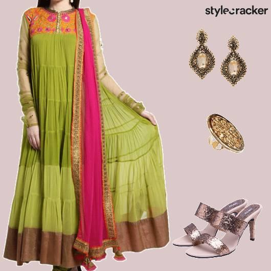 FestiveIndian Anarkali StatementRing - StyleCracker