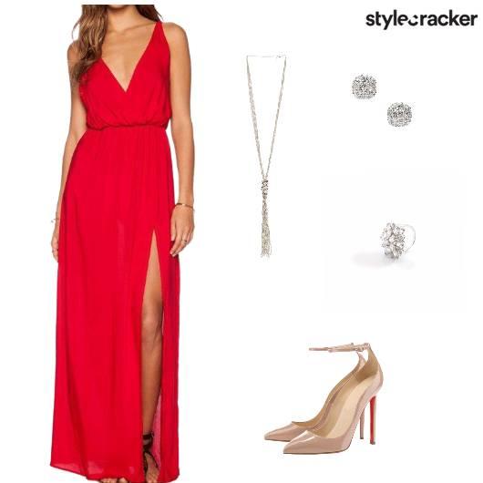 Party NightOut RedCarpet Red Gown - StyleCracker