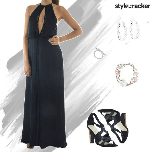 Party Black NightOut MaxiDress - StyleCracker