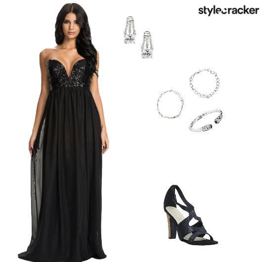 Party NightOut Maxi Dress Sequin - StyleCracker
