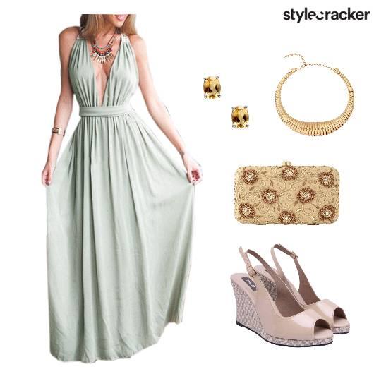 Dress Gown Shoes Clutch Accessories - StyleCracker