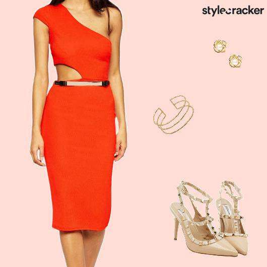 Party NightOut BodyCon Orange Dress - StyleCracker