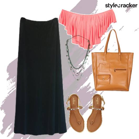 Summer Crop Skirt Tote Flats Casual  - StyleCracker
