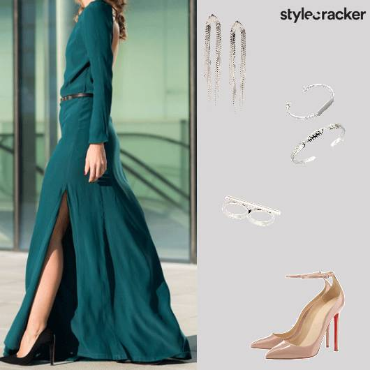Green NightOut Party RedCarpet Maxi - StyleCracker