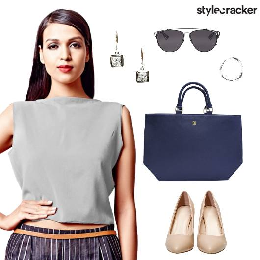 Skirt CropTop Formal Office Work - StyleCracker