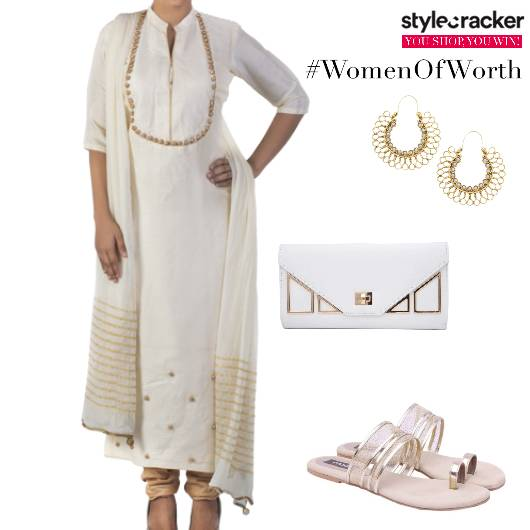 Women'sDay WomenOfWorth Indian Churidar Kurta  - StyleCracker