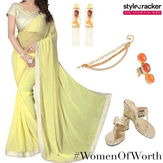 Women'sDay WomenOfWorth Saree IndianWear   - StyleCracker