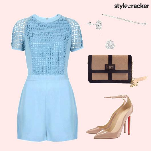Playsuit Daywear Nudepumps Summer Brunch  - StyleCracker