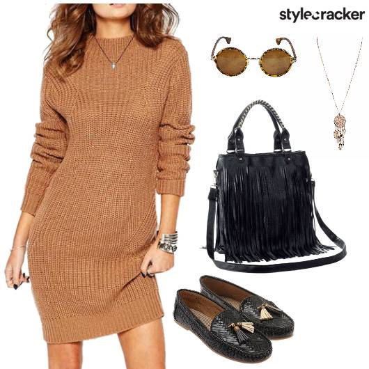 Knit Dress Day Travel  - StyleCracker