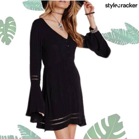 SCLOVES Black Dress - StyleCracker