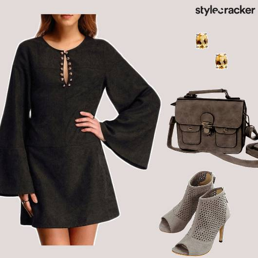 Suede BellSleeves Dress Booties - StyleCracker