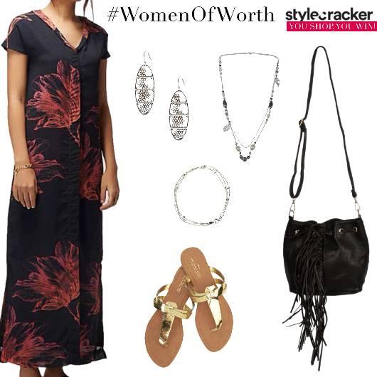 Floral Long Dress Fringe Summer  - StyleCracker