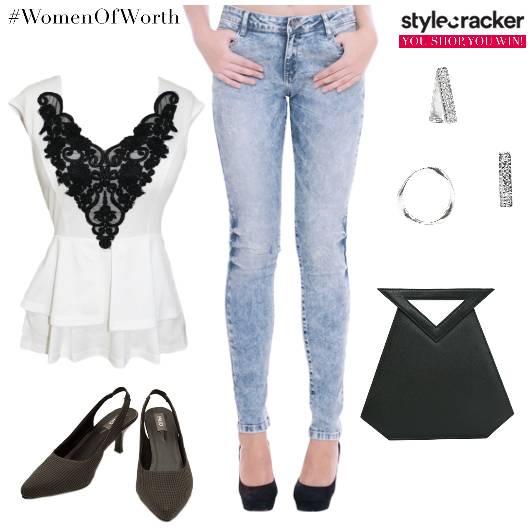 Lace Peplum Jeans Summer Date  - StyleCracker
