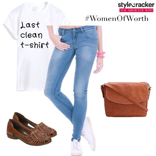 Casual Jeans Tee Denim - StyleCracker