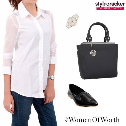 Workwear Shirt White Formal - StyleCracker