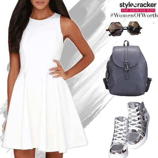 SkaterDress Backpack Hightop Sneakers - StyleCracker