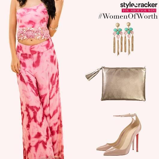 Festive Indian TieAndDye PallazoPants Croptop - StyleCracker