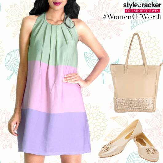 Casual Brunch Daywear ColourBlock Dress - StyleCracker