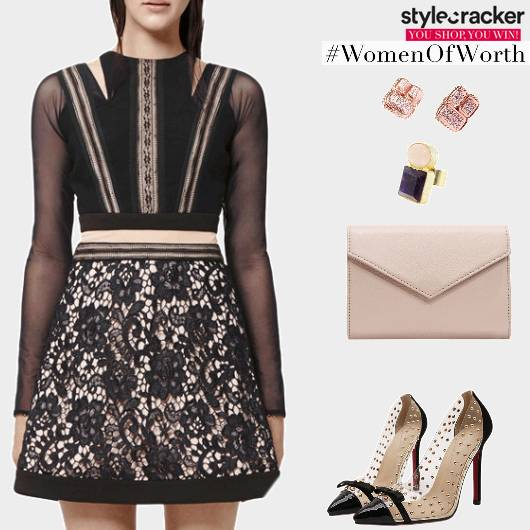 Night Party Dress LaceDetails - StyleCracker
