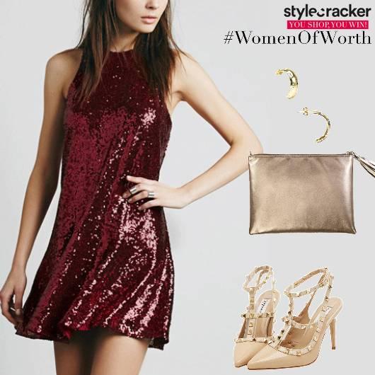 Night Party Sequinned Dress - StyleCracker