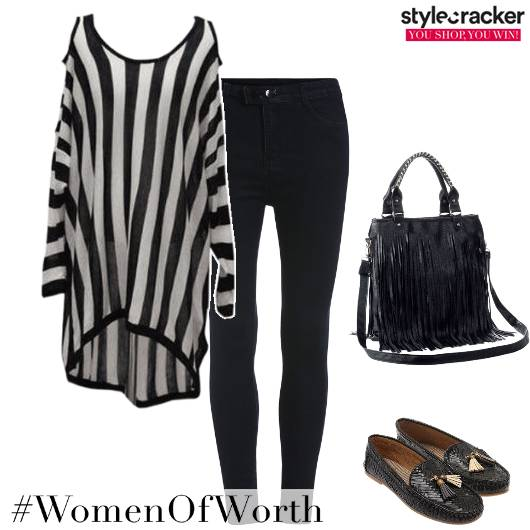 SmartCasual Monochrome Stripes  - StyleCracker
